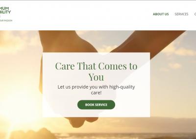 """Optimum Disability Care """"WEBSITE RE-DESIGN"""""""