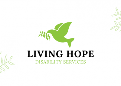 """LIVING HOPE DISABILITY SERVICES """"BUSINESS CARD & BROCHURE DESIGN"""""""